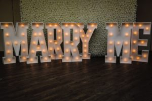 Gallery essex event hire for Marry me light up letters